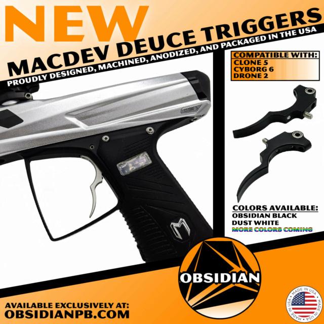 Obsidian Paintball Products: Détente Deuce MacDev Clone 5 / Cyborg 6 / Drone 2 Deucec10