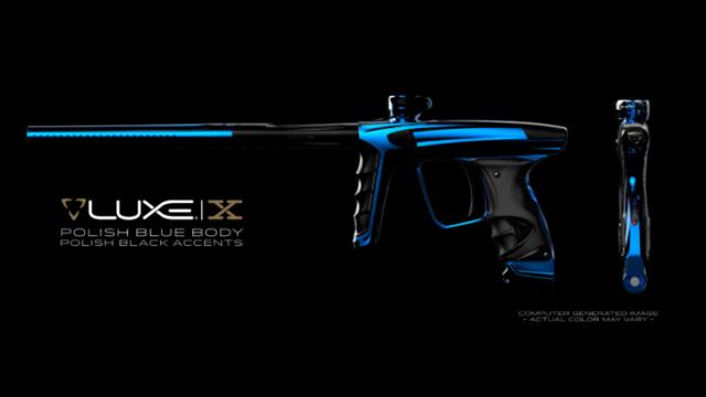 DLX Luxe X Polish Blue Polish Black Accents Dlxlux24