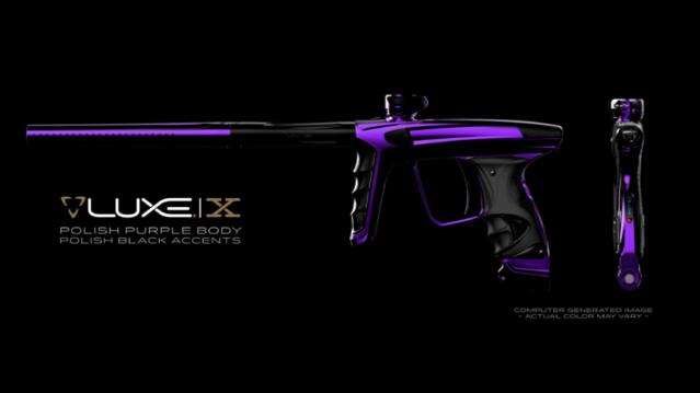 DLX Luxe X Polish Purple Polish Black Accents Dlxlux27