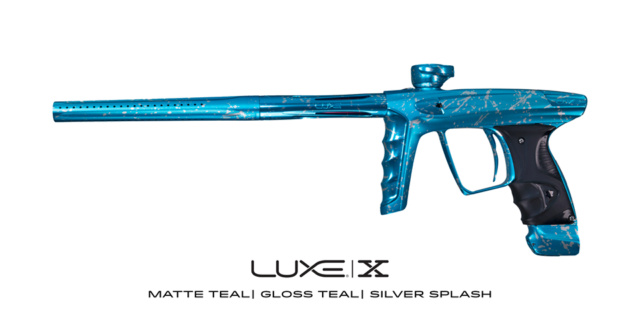 DLX Luxe X Mat Turquoise Gloss Turquoise Accents Splash Silver. Dlxlux46