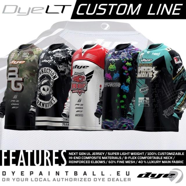 Dye LT Custom Line Jerseys  Dyeltc10