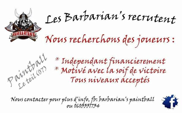 Barbarians recrute (France / 07) Recrut10