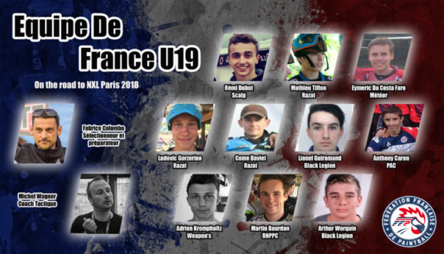 EPBF: Equipe de France U19 2018 Roster11