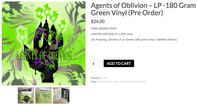 Agents of Oblivion – LP -180 Gram Green Vinyl Agents10