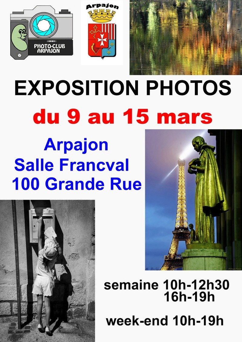 Le photo club d'Arpajon s'expose du 9 au 15 mars 2017 Affich10