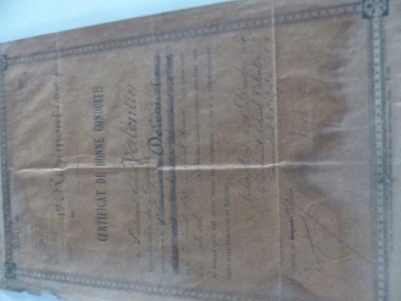 Certificat de bonne conduite 1920 19022510