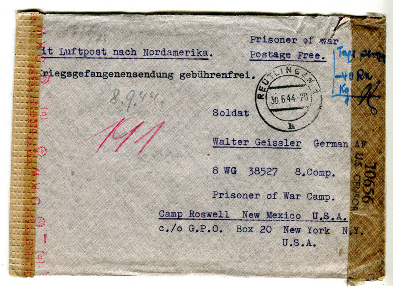 Kriegsgefangenenpost II. Weltkrieg (Österreich) Gefang10