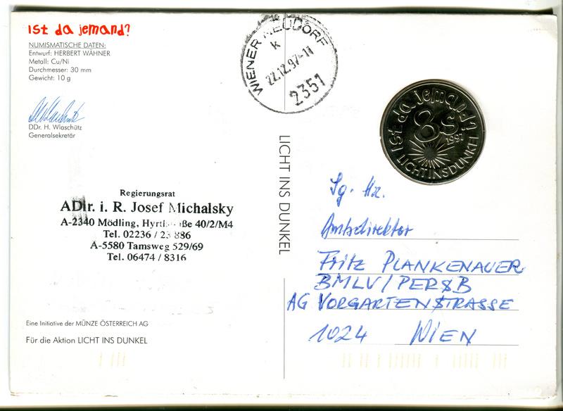 Numisbrief bzw. Karte Z01310