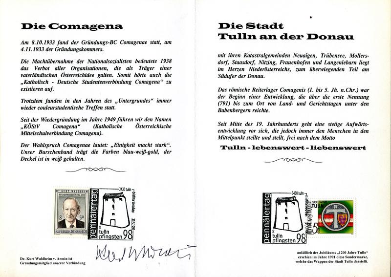 3430 Tulln - Briefmarkenschau 1998 Z04410