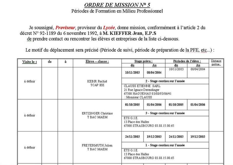 indemnités déplacement PFMP Om10