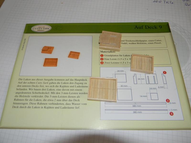 Meine Cutty Sark von delPrado wird gebaut Deck_910