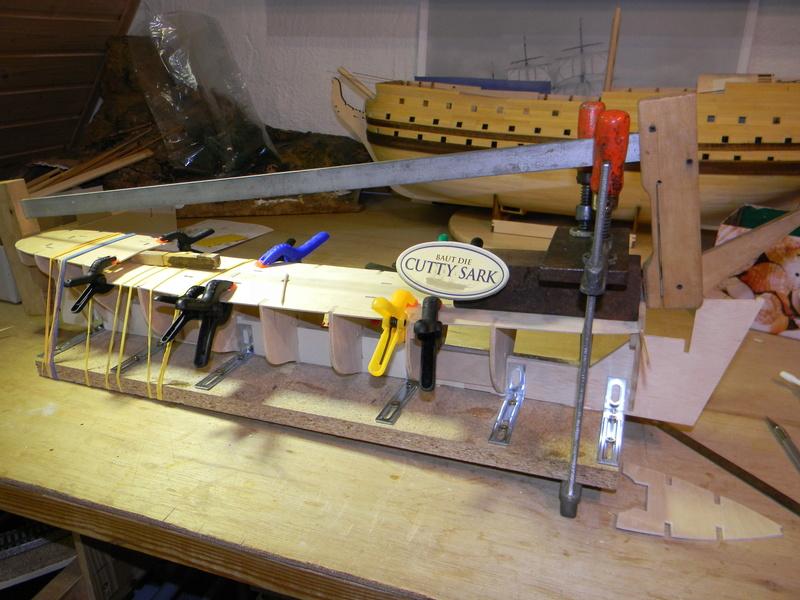 Meine Cutty Sark von delPrado wird gebaut Rumpf_10