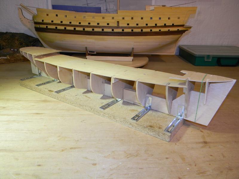 Meine Cutty Sark von delPrado wird gebaut Rumpf_11