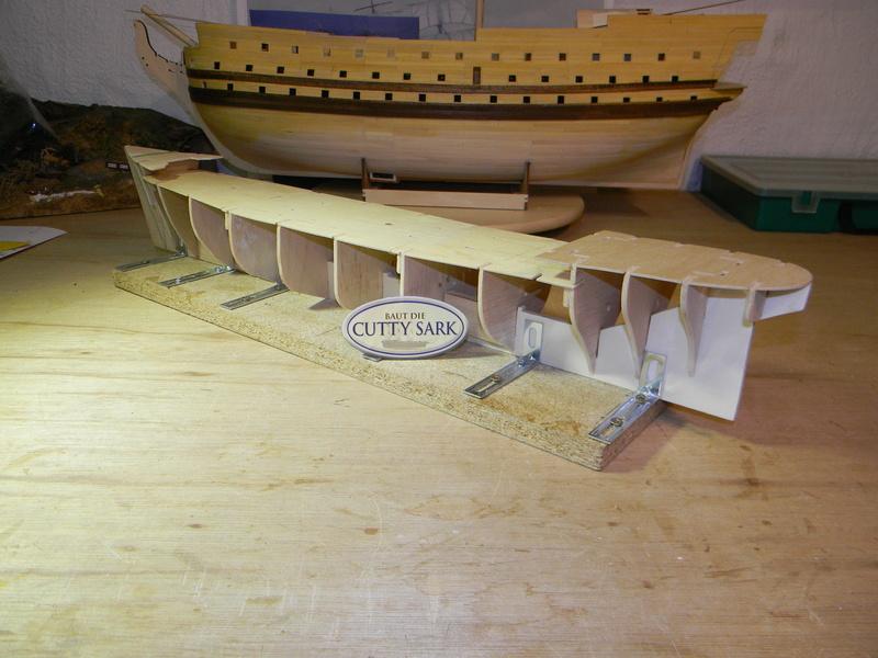 Meine Cutty Sark von delPrado wird gebaut Rumpf_12