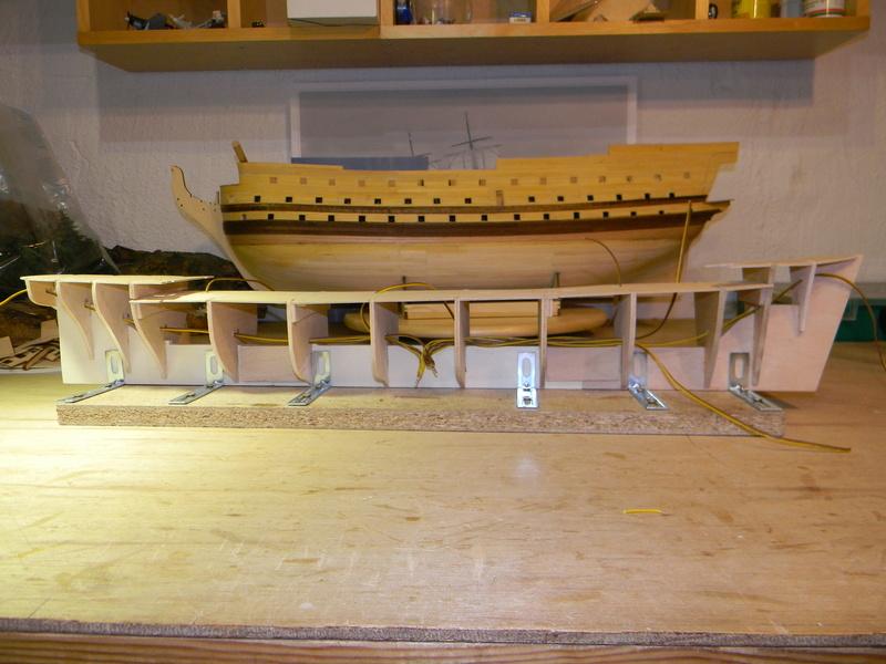 Meine Cutty Sark von delPrado wird gebaut Rumpf_13