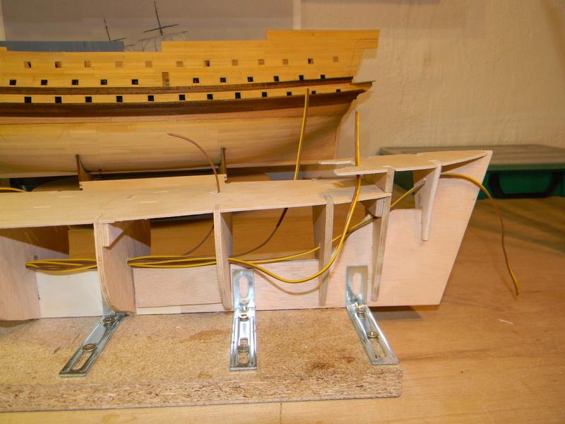 Meine Cutty Sark von delPrado wird gebaut Rumpf_15