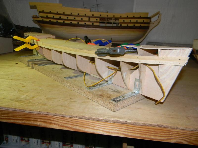 Meine Cutty Sark von delPrado wird gebaut Rumpf_16