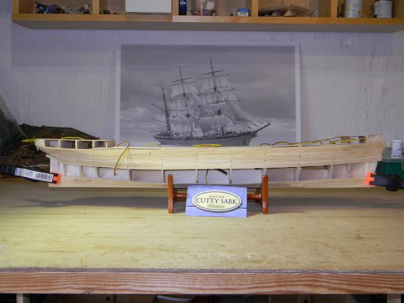 Meine Cutty Sark von delPrado wird gebaut Rumpf_17