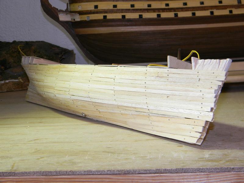 Meine Cutty Sark von delPrado wird gebaut Rumpf_20