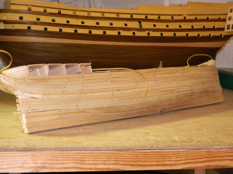 Meine Cutty Sark von delPrado wird gebaut Rumpf_21