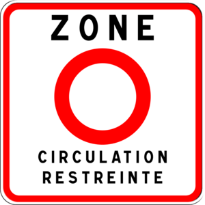 Carte de France des Zones Crit'air Csm_zc10