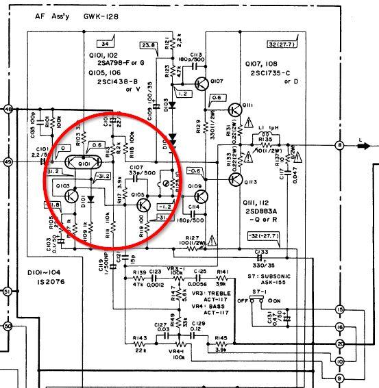 Fruscio continuo su canale sinistro amplificatore. 1b10