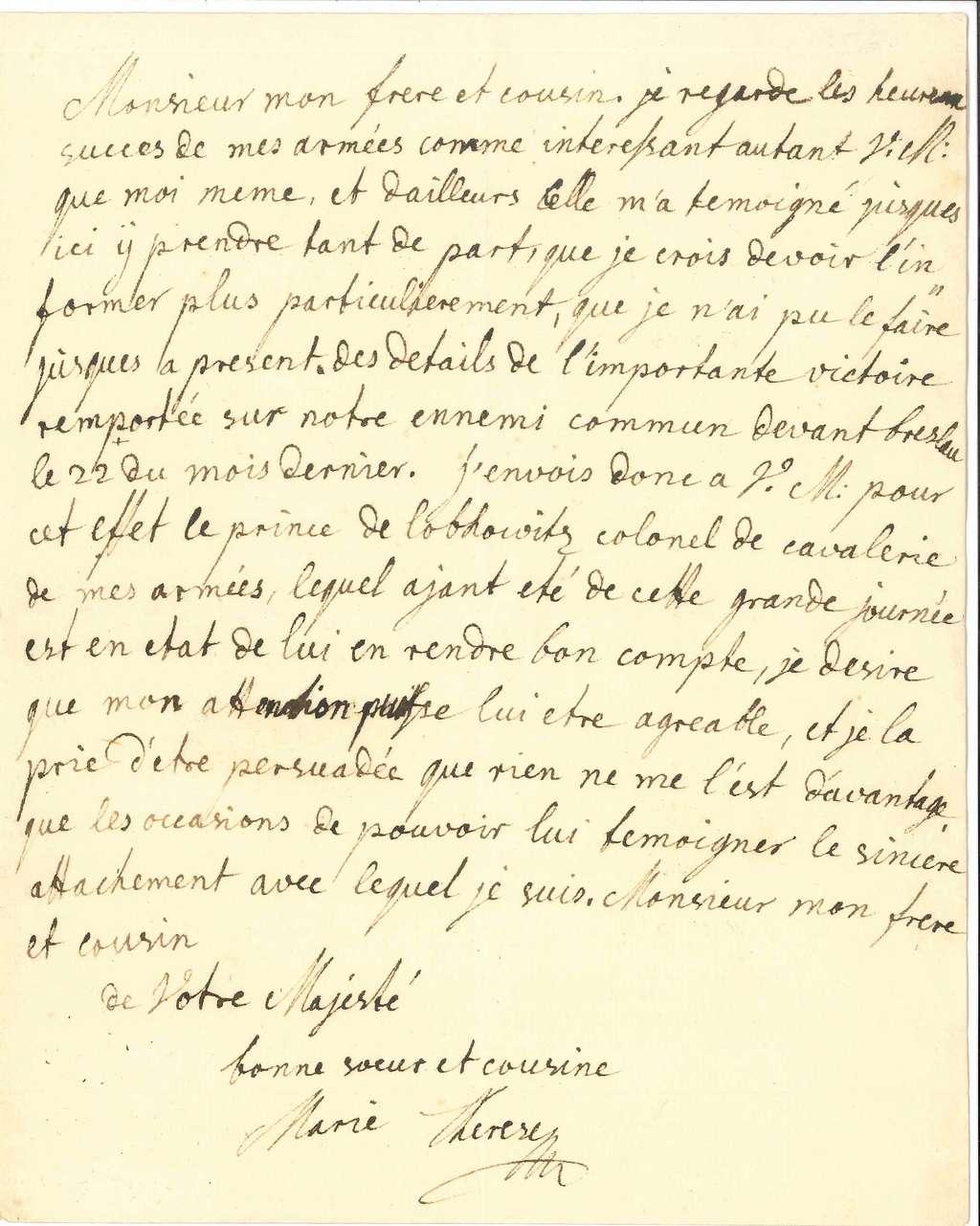 Lettres, autographes et écrits de Marie-Thérèse, mère de Marie-Antoinette 14915510