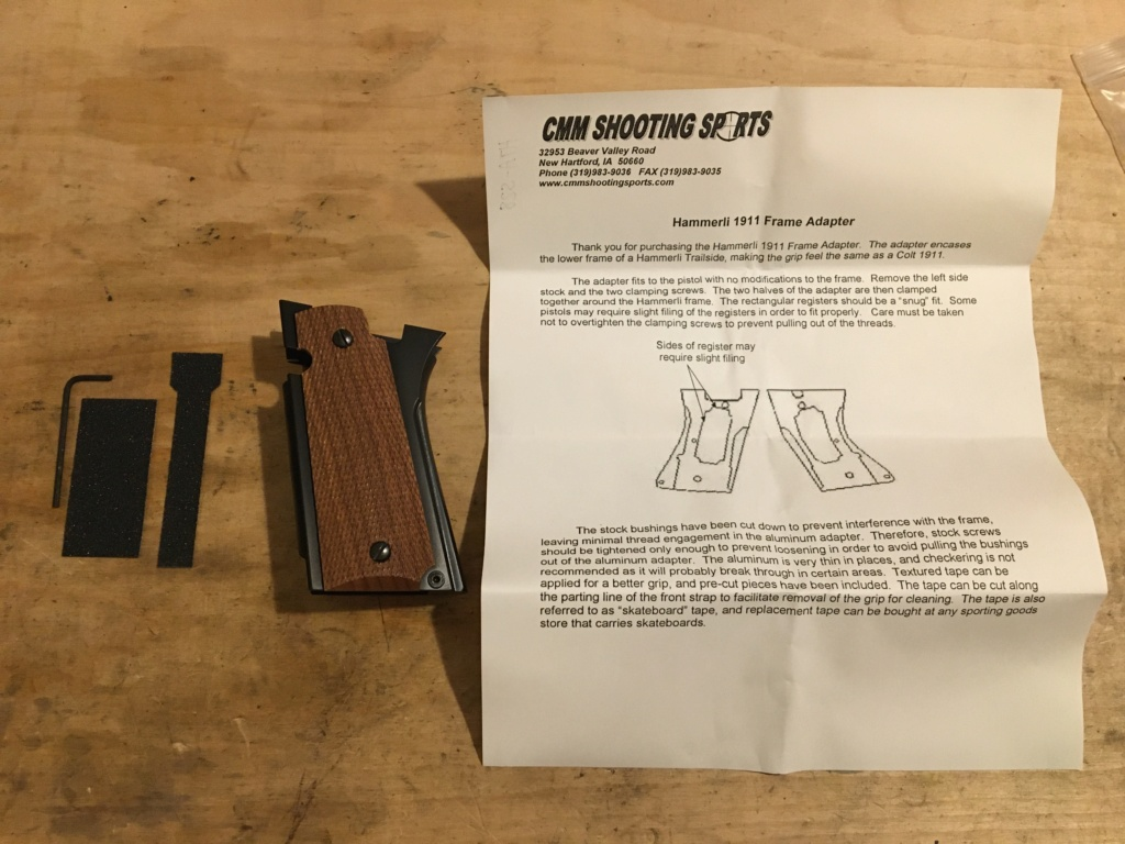 CMM Shooting Sports 1911 Grip Adapter - Hammerli Xesse Img_3414