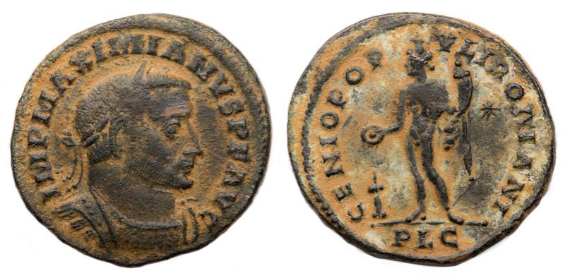 Follis Maximianus Auguste à identifier Ric ? Rare ? Ensemb10