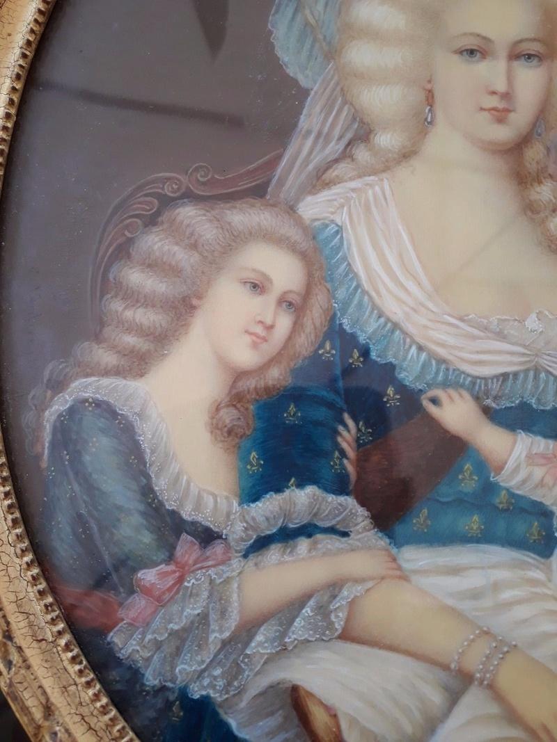 Déclinaisons faites d'après le portrait de Marie Antoinette et ses enfants de Vigée Lebrun _5717
