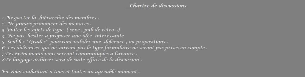 Chartre de discussions  F311