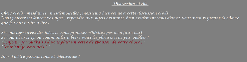 Discussion Pub : Partie Civils F511