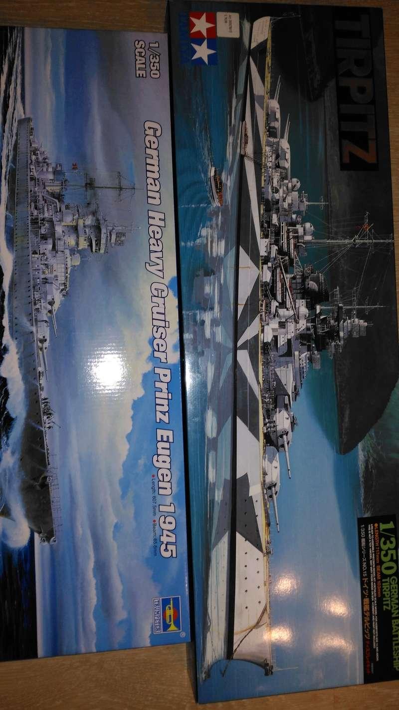 Trumpeter 1:350 Bausatz Prinz Eugen , Tamyia 1:350 Bausatz Tirpitz Img_2045