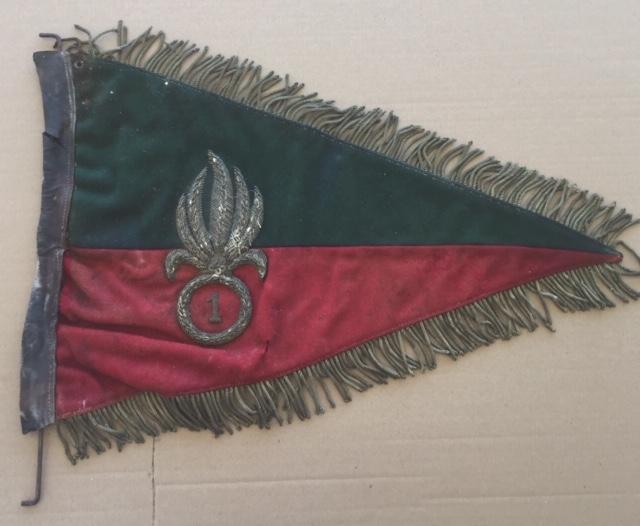 Fanion ancien de la Légion Etrangère avec chiffre 1 / peloton Winterpeltz Img_1522