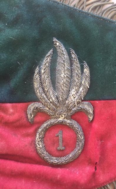 Fanion ancien de la Légion Etrangère avec chiffre 1 / peloton Winterpeltz Img_1523