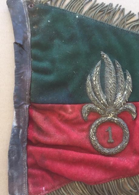 Fanion ancien de la Légion Etrangère avec chiffre 1 / peloton Winterpeltz Img_1526