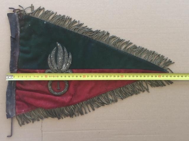 Fanion ancien de la Légion Etrangère avec chiffre 1 / peloton Winterpeltz Img_1528
