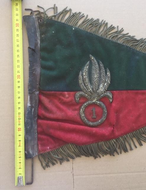 Fanion ancien de la Légion Etrangère avec chiffre 1 / peloton Winterpeltz Img_1530