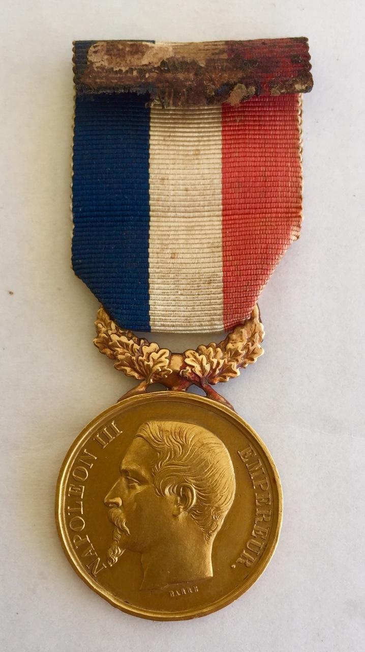 Médaille d'honneur ministère de l'intérieur II empire en or massif + diplôme Img_3414
