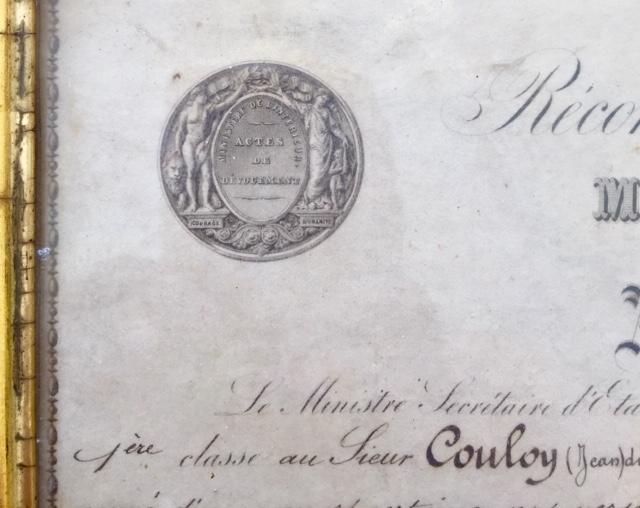 Médaille d'honneur ministère de l'intérieur II empire en or massif + diplôme Img_3520
