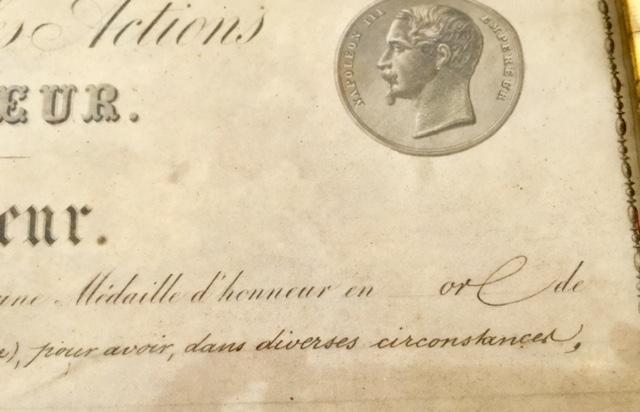 Médaille d'honneur ministère de l'intérieur II empire en or massif + diplôme Img_3524