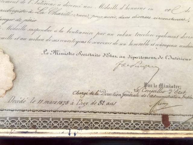 Médaille d'honneur ministère de l'intérieur II empire en or massif + diplôme Img_3528