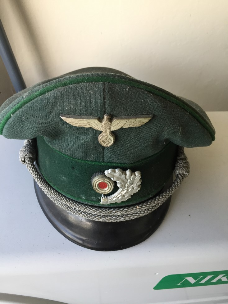 Casquette officier WH liseré vert Img_3910