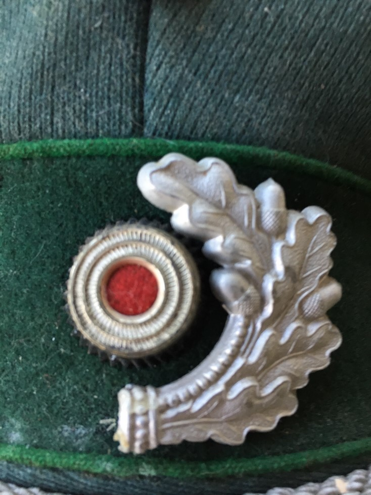 Casquette officier WH liseré vert Img_3917