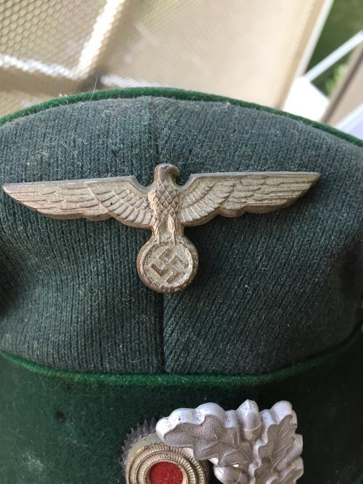 Casquette officier WH liseré vert Img_3918