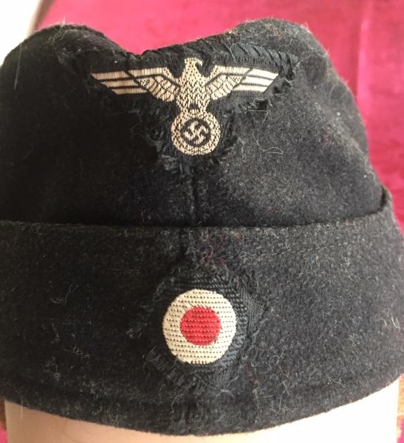 Authentification calot noir Panzer WH Img_5859