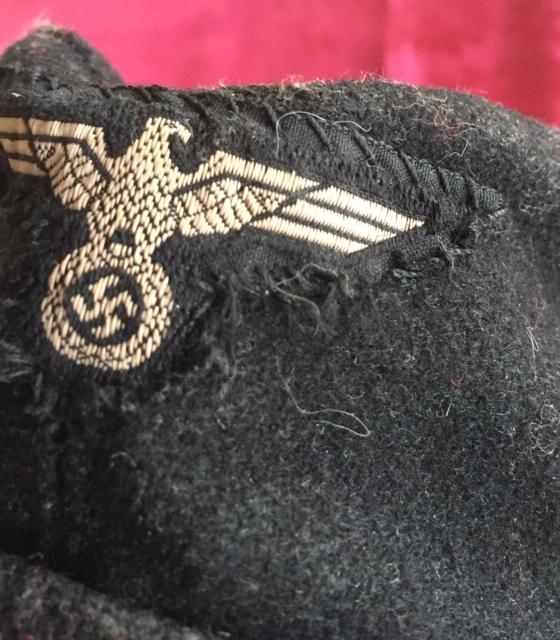 Authentification calot noir Panzer WH Img_5863