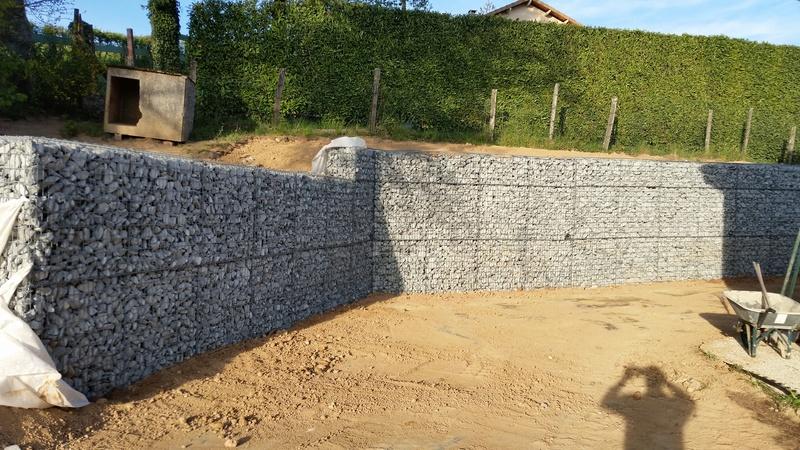 Mur de soutènement en GABION ! 20170418