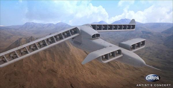 Projet US d'un drone VTOL à motorisation hybride électrique Vtol-210