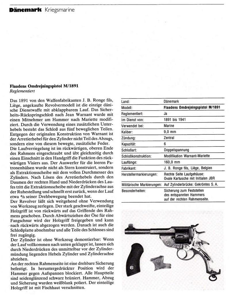 Revolver Marine Danois Mle 1891 110
